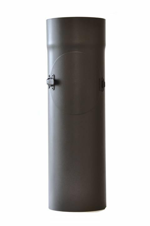 Fe Kouřovod roura pr.200mm, délka 0,5m + ČISTÍCÍ OTVOR