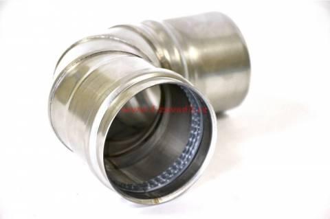 Kleno 45° pro kamna na pelety, pr.80mm