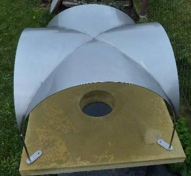 Nerezová komínová hlavice 600 x 600