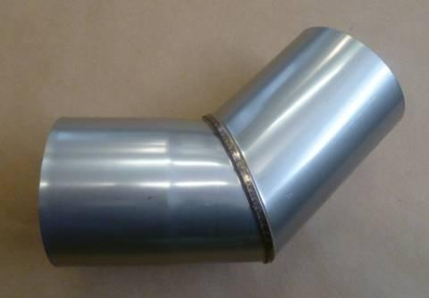 Nerezové komínové koleno 45° x pr.102 mm