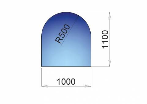 Nerezový plech pod kamna Neapole, 1000x1100