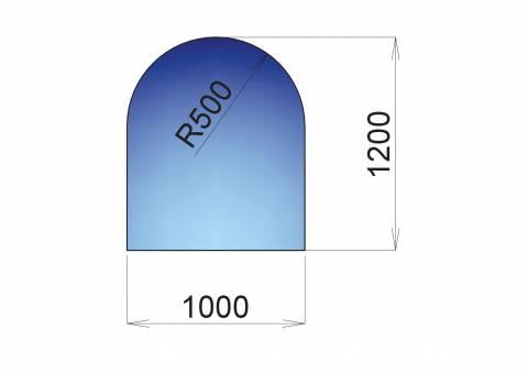 Nerezový plech pod kamna Roma, 1000x1200