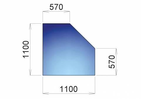 Nerezový plech pod kamna Hamburk, 1100x570
