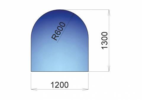 Nerezový plech pod kamna Bari, 1200x1300