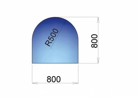 Sklo pod kamna Milano, 800x800mm