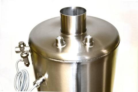 Lázeňská koupelnová kamna ZB100 komplet, tlaková nerez